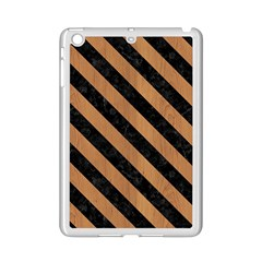 Stripes3 Black Marble & Light Maple Wood (r) Ipad Mini 2 Enamel Coated Cases