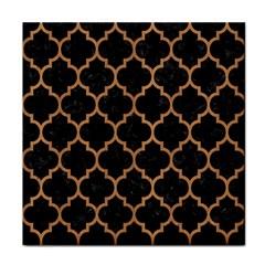 Tile1 Black Marble & Light Maple Wood Tile Coasters
