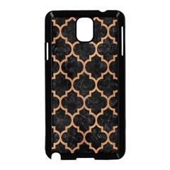 Tile1 Black Marble & Light Maple Wood Samsung Galaxy Note 3 Neo Hardshell Case (black)