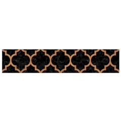 Tile1 Black Marble & Light Maple Wood Flano Scarf (small)