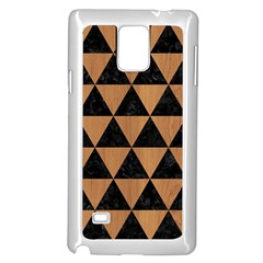 Triangle3 Black Marble & Light Maple Wood Samsung Galaxy Note 4 Case (white)