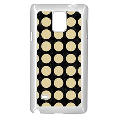 Circles1 Black Marble & Light Sand Samsung Galaxy Note 4 Case (white)