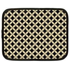 Circles3 Black Marble & Light Sand Netbook Case (large)