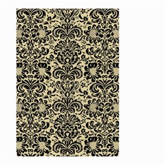 Damask2 Black Marble & Light Sand (r) Small Garden Flag (two Sides)