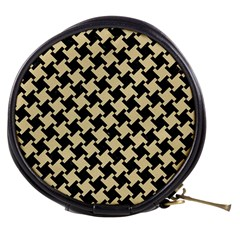 Houndstooth2 Black Marble & Light Sand Mini Makeup Bags