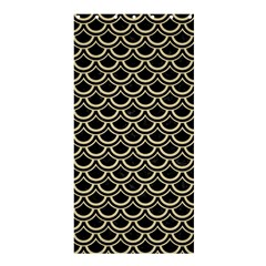 Scales2 Black Marble & Light Sand Shower Curtain 36  X 72  (stall)