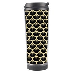 Scales3 Black Marble & Light Sand Travel Tumbler