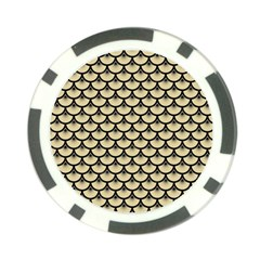 Scales3 Black Marble & Light Sand (r) Poker Chip Card Guard
