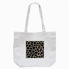 Skin1 Black Marble & Light Sand (r) Tote Bag (white)