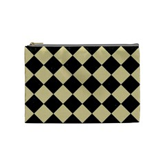 Square2 Black Marble & Light Sand Cosmetic Bag (medium)