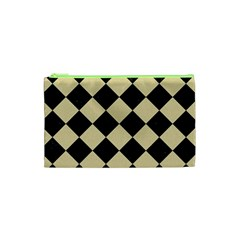 Square2 Black Marble & Light Sand Cosmetic Bag (xs)