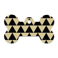Triangle2 Black Marble & Light Sand Dog Tag Bone (one Side)
