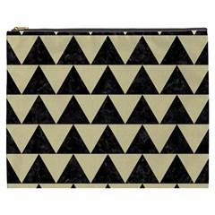 Triangle2 Black Marble & Light Sand Cosmetic Bag (xxxl)