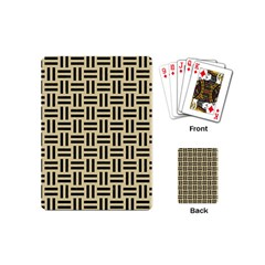 Woven1 Black Marble & Light Sand (r) Playing Cards (mini)