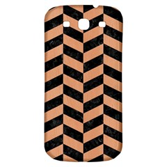 Chevron1 Black Marble & Natural Red Birch Wood Samsung Galaxy S3 S Iii Classic Hardshell Back Case