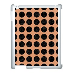 Circles1 Black Marble & Natural Red Birch Wood (r) Apple Ipad 3/4 Case (white)