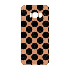Circles2 Black Marble & Natural Red Birch Wood (r) Samsung Galaxy S8 Hardshell Case