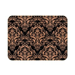 Damask1 Black Marble & Natural Red Birch Wood Double Sided Flano Blanket (mini)