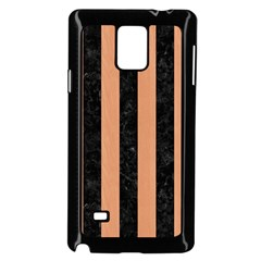 Stripes1 Black Marble & Natural Red Birch Wood Samsung Galaxy Note 4 Case (black)