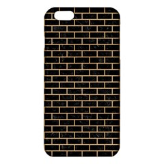Brick1 Black Marble & Natural White Birch Wood Iphone 6 Plus/6s Plus Tpu Case