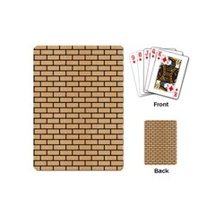 Brick1 Black Marble & Natural White Birch Wood (r) Playing Cards (mini)