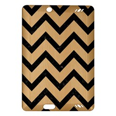 Chevron9 Black Marble & Natural White Birch Wood (r) Amazon Kindle Fire Hd (2013) Hardshell Case