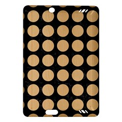Circles1 Black Marble & Natural White Birch Wood Amazon Kindle Fire Hd (2013) Hardshell Case