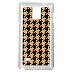 Houndstooth1 Black Marble & Natural White Birch Wood Samsung Galaxy Note 4 Case (white)