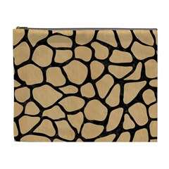 Skin1 Black Marble & Natural White Birch Wood Cosmetic Bag (xl)