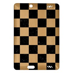 Square1 Black Marble & Natural White Birch Wood Amazon Kindle Fire Hd (2013) Hardshell Case