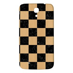 Square1 Black Marble & Natural White Birch Wood Samsung Galaxy Mega I9200 Hardshell Back Case