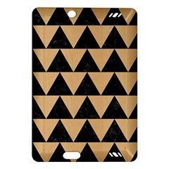 Triangle2 Black Marble & Natural White Birch Wood Amazon Kindle Fire Hd (2013) Hardshell Case