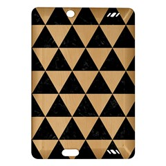 Triangle3 Black Marble & Natural White Birch Wood Amazon Kindle Fire Hd (2013) Hardshell Case