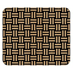 Woven1 Black Marble & Natural White Birch Wood Double Sided Flano Blanket (small)