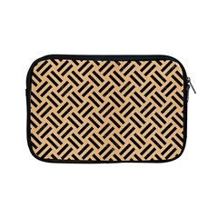 Woven2 Black Marble & Natural White Birch Wood (r) Apple Ipad Mini Zipper Cases