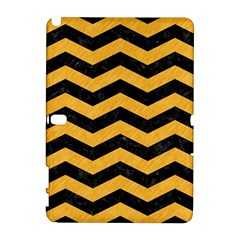 Chevron3 Black Marble & Orange Colored Pencil Galaxy Note 1