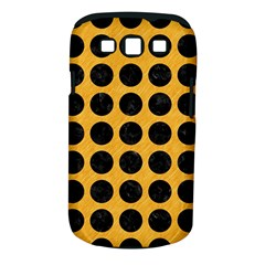 Circles1 Black Marble & Orange Colored Pencil (r) Samsung Galaxy S Iii Classic Hardshell Case (pc+silicone)