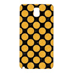 Circles2 Black Marble & Orange Colored Pencil Samsung Galaxy Note 3 N9005 Hardshell Back Case