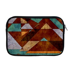Turquoise And Bronze Triangle Design With Copper Apple Macbook Pro 17  Zipper Case