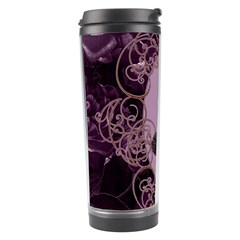 Soft Violett Floral Design Travel Tumbler