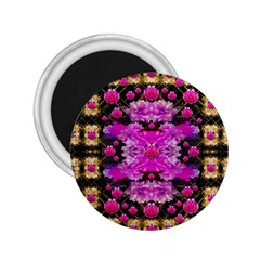 Flowers And Gold In Fauna Decorative Style 2 25  Magnets
