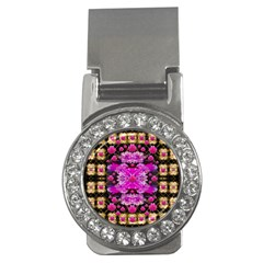 Flowers And Gold In Fauna Decorative Style Money Clips (cz)