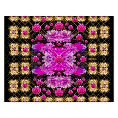 Flowers And Gold In Fauna Decorative Style Rectangular Jigsaw Puzzl