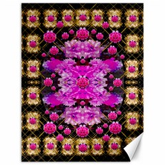 Flowers And Gold In Fauna Decorative Style Canvas 12  X 16