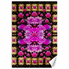 Flowers And Gold In Fauna Decorative Style Canvas 12  X 18