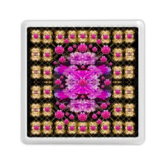 Flowers And Gold In Fauna Decorative Style Memory Card Reader (square)