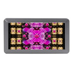 Flowers And Gold In Fauna Decorative Style Memory Card Reader (mini)