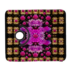 Flowers And Gold In Fauna Decorative Style Galaxy S3 (flip/folio)