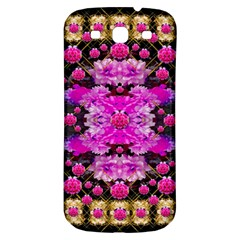 Flowers And Gold In Fauna Decorative Style Samsung Galaxy S3 S Iii Classic Hardshell Back Case