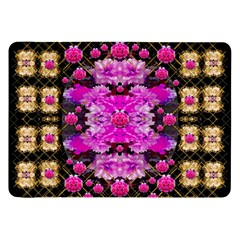 Flowers And Gold In Fauna Decorative Style Samsung Galaxy Tab 8 9  P7300 Flip Case